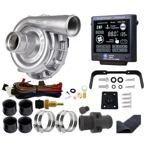 EWP115電動ウォーターポンプ金属ボディ&ファンデジタルコントローラーコンボセット