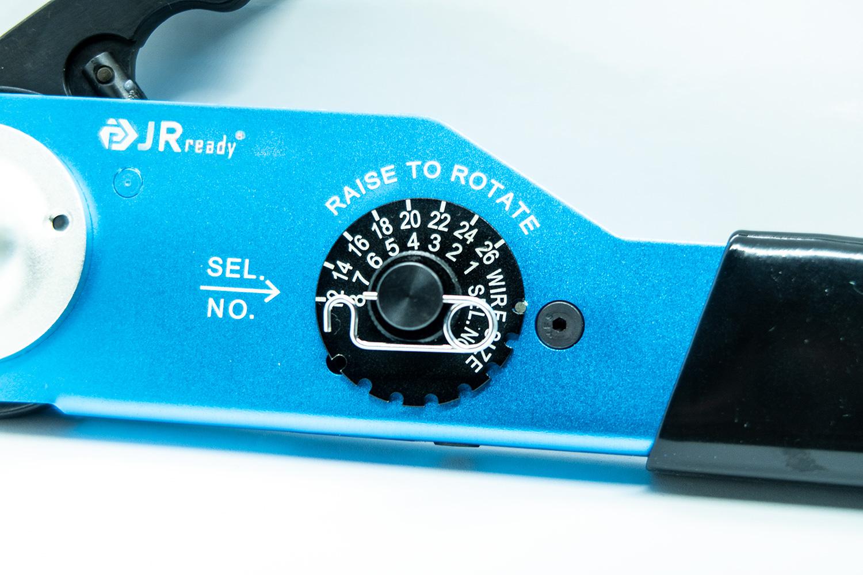 航空機端子ピン専用 ソリッドバレル圧着ツール AWG:12〜26対応