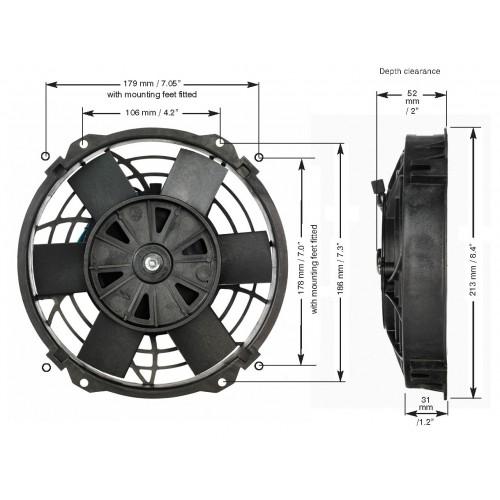 EWP 電動ファン 8インチ単体 12V