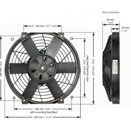 EWP 電動ファン 10インチ単体 12V