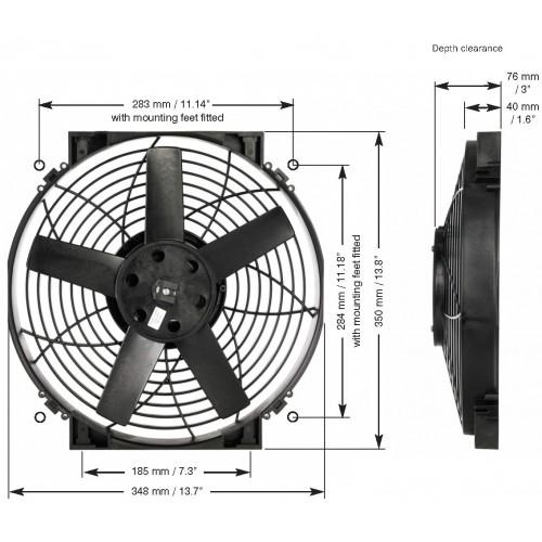 EWP 電動ファン 14インチ単体 12V