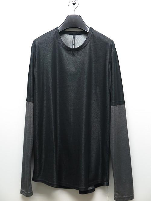 nude:masahiko maruyama ・ヌード:マサヒコマルヤマ/Plating Rib Long Sleeve T shirt/BLKSLV