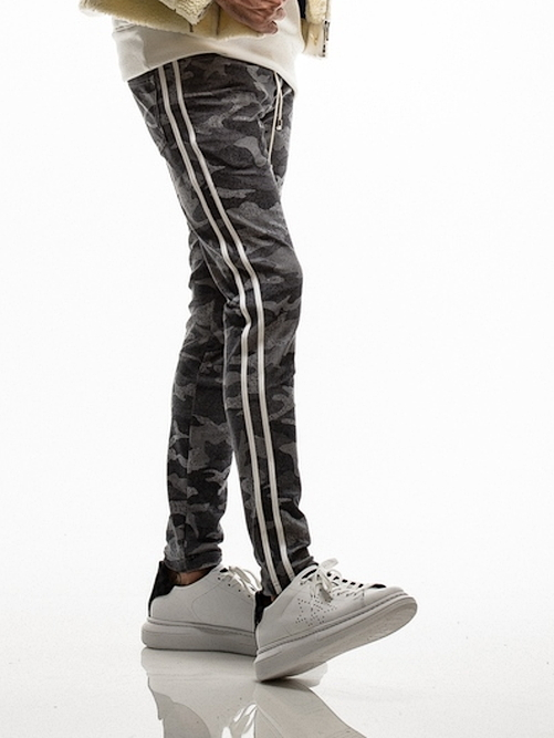 18TH RESOUND CLOTHING・リサウンドクロージング/Blind LINE PTSUPER TIGHT TAPERD/HCAMOGREYWH