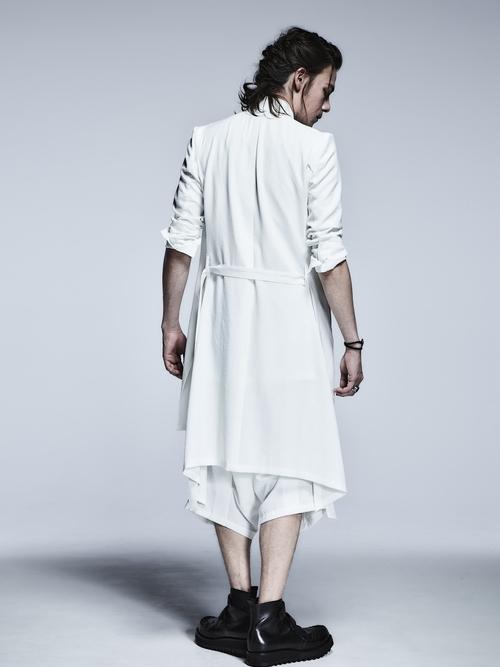 (予約品)2月入荷予定/kiryuyrik・キリュウキリュウ/Vintage Twill No Collar Flare Jacket/White