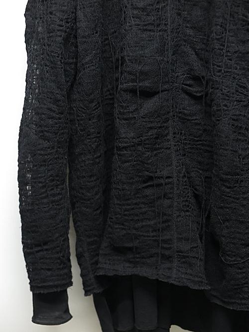 (予約品)7〜8月入荷予定/nude:masahiko maruyama ・ヌード:マサヒコマルヤマ/Layered Long Sleeve T Shirt/Black