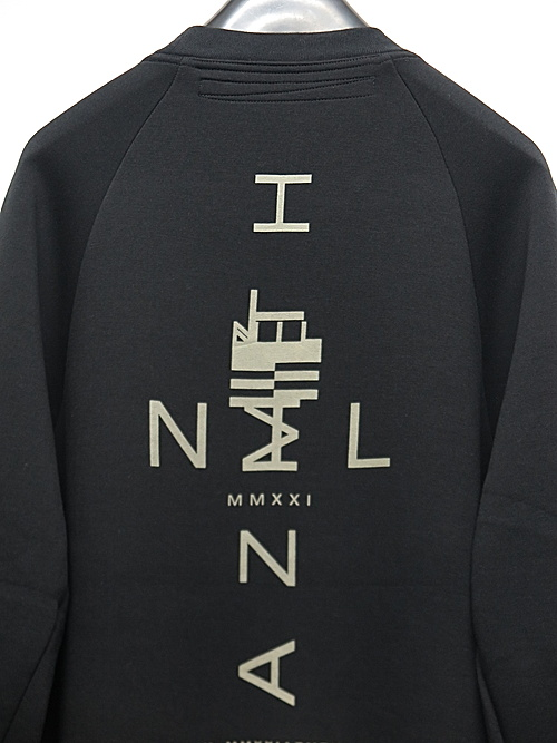NIL/S・ニルズ/RY/PL DOUBLE FACE CUT & SEWN FOR MALE/BLACK