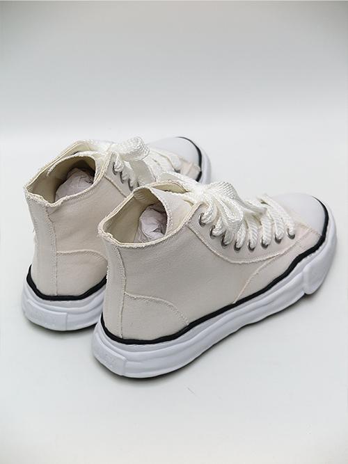 MIHARA YASUHIRO・ミハラヤスヒロ/original sole canvas hi cut sneaker/WHT