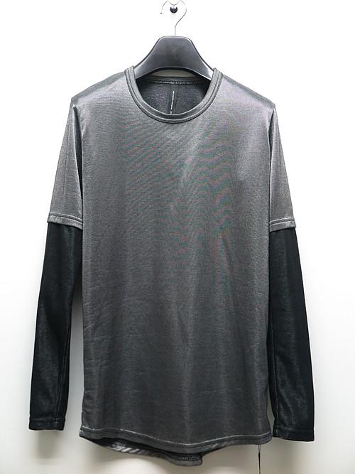 SALE40%OFF/nude:masahiko maruyama ・ヌード:マサヒコマルヤマ/Plating Rib Long Sleeve T shirt/SLVBLK
