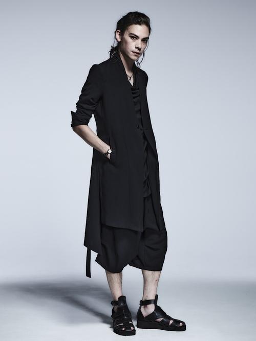(予約品)2月入荷予定/kiryuyrik・キリュウキリュウ/Vintage Twill No Collar Flare Jacket/Black