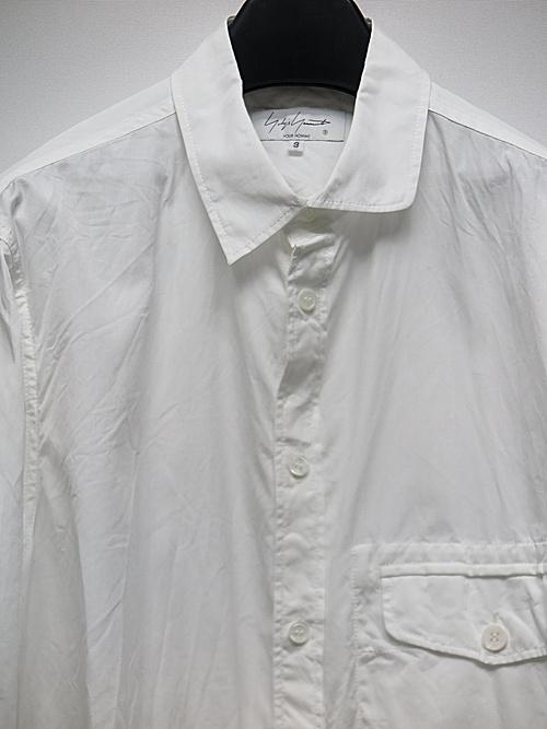 Yohji Yamamoto・ヨウジヤマモト/G-アンバランスB環縫いシャツ/ホワイト