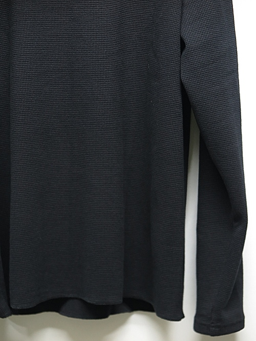 19TH RESOUND CLOTHING・リサウンドクロージング/ST COTTON waffle Thermal/BLACK