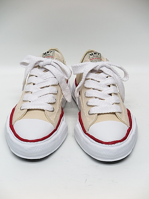 MIHARA YASUHIRO・ミハラヤスヒロ/ Original sole canvas lowcut sneakerr/NATURAL