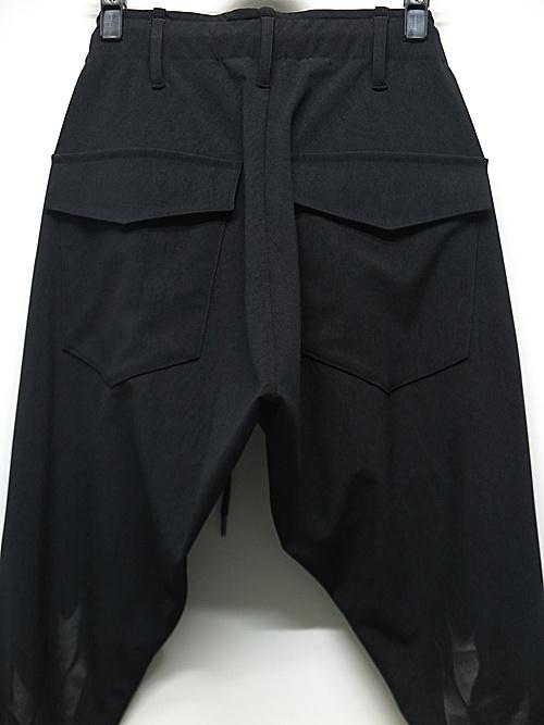 (予約品)8月入荷予定/kiryuyrik・キリュウキリュウ/High Tension Saruel Pants/BlackBlack