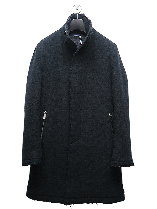 SALE40%OFF/junhashimoto・ジュンハシモト/BALLOON WASHER FOODED FLY FRONT COAT/BLACK.