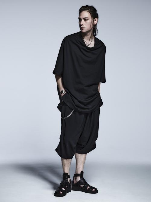 (予約品)2月入荷予定/kiryuyrik・キリュウキリュウ/Vintage Twill Saruel Loose Pants/Black