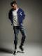 (予約品)12月入荷/22TH RESOUND CLOTHING・リサウンドクロージング/super tight taperd Blind DENIM JERSEY/INDA