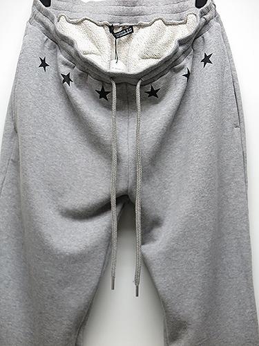 SALE50%OFF/MADE IN WORLD☆&CO・メイドインワールド・star sweat long pants/グレー.