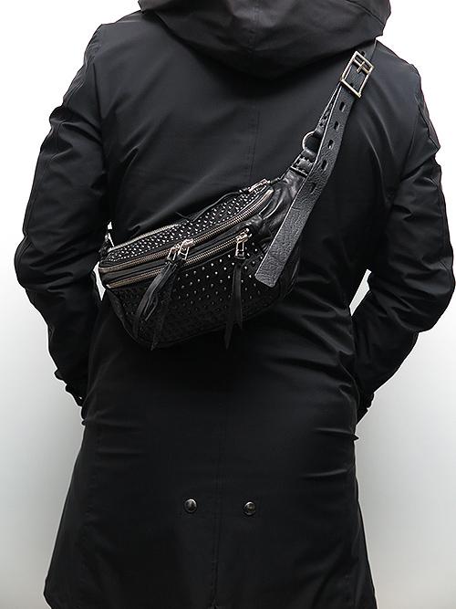(予約品)2〜3月入荷/KMRii(ケムリ)Goat Skin Cow Leather BD- Sniper Stingray/ M/BLACK