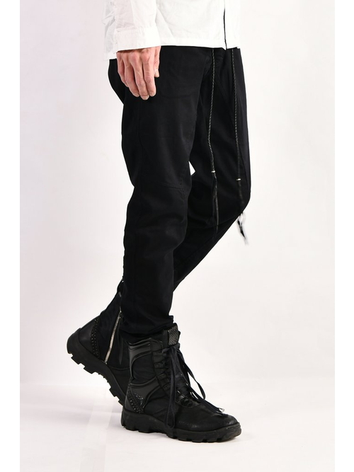 KMRii・ケムリ/Stretch Twill Pants 03/BLK