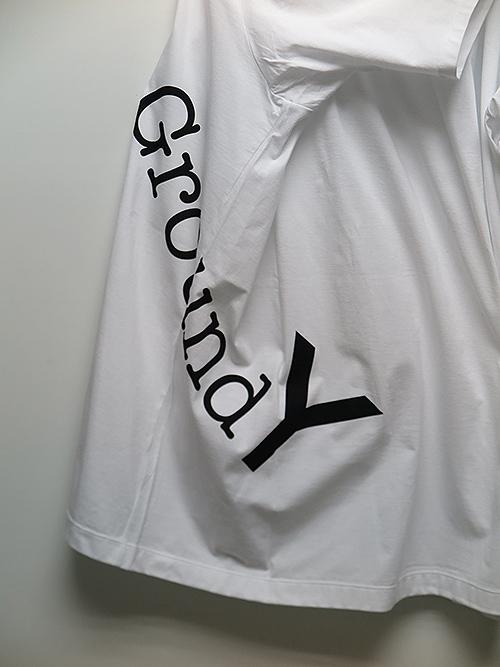 Ground Y・グラウンドワイ・30/Cotton Jersey GYロゴ ジャンボカットソー/ホワイト.