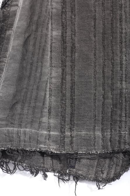 SALE30%OFF/D.HYGEN・ディーハイゲン/リネン×レーヨンジャガードストライプジャケット/CHA