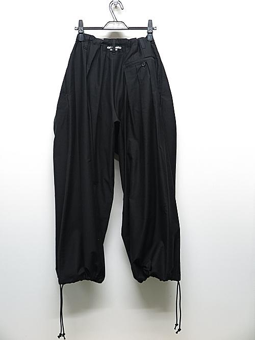 Yohji Yamamoto・ヨウジヤマモト/コットンツイルG-細バルーンパンツ/ブラック