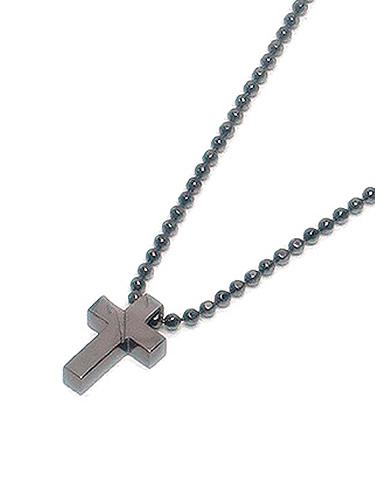 kiryuyrik(キリュウキリュウ)Silver925 Cross Choker/BLK