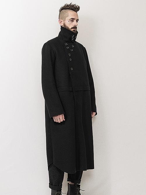 (予約品)7〜8月入荷予定/nude:masahiko maruyama ・ヌード:マサヒコマルヤマ/Oversized Long Coat/Black