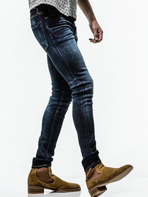 (予約品)9月入荷/RESOUND CLOTHING・リサウンドクロージング/SUPER SKINNY LOAD  DENIM/IND SOLID