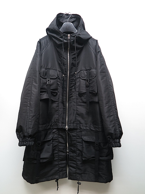 SALE40%OFF/KMRii・ケムリ/Cotton 2wayTaslon Mods Coat/BLK