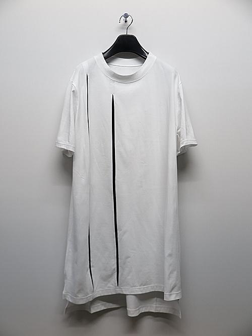 Ground Y・グラウンドワイ・Cutting Blade Short Sleeves Cut/WHITE