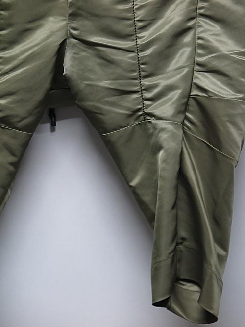RIPVANWINKLE・リップヴァンウィンクル/ヘビーツイル SARROUEL CROPPED PANTS/OLIVE