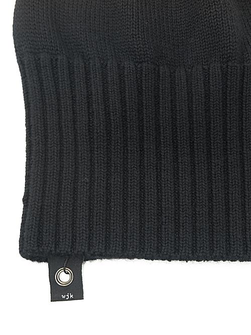 wjk・ダブルジェイケイ/2-way knit cap/BLK
