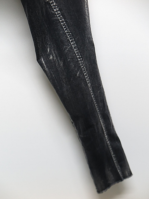 KMRii・ケムリ/Discharged Stretch Twill Pants 03/BLK