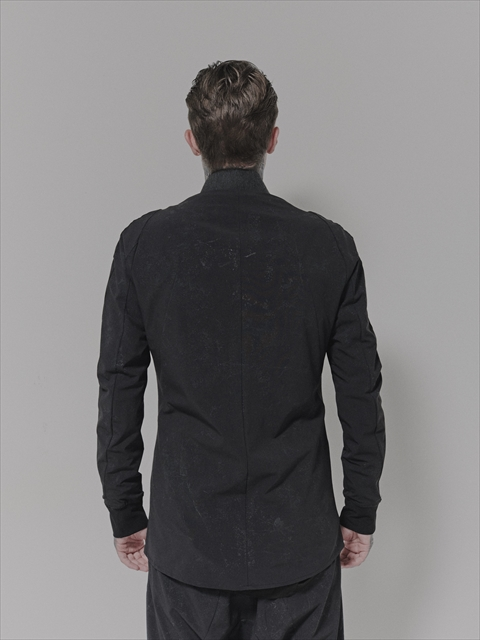 D.HYGEN・ディーハイゲン・リフレクターコーティング4WAYストレッチナイロンボンバーシャツブルゾン・ブラック.
