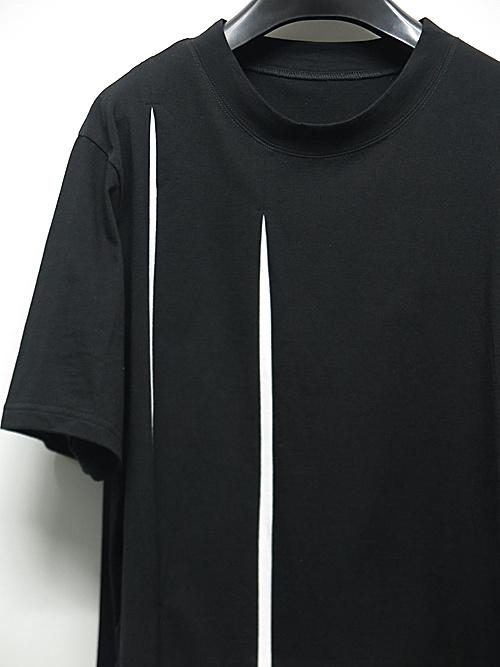 Ground Y・グラウンドワイ・Cutting Blade Short Sleeves Cut/BLACK