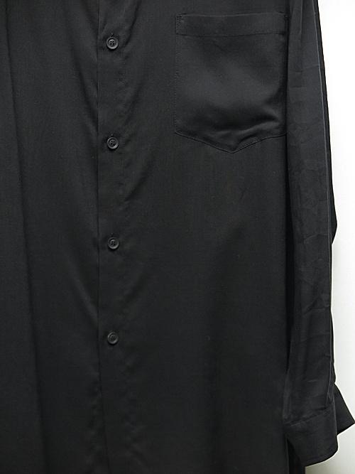 Yohji Yamamoto・ヨウジヤマモト/テンセルローンK-スタンド衿シャツ/ブラック.
