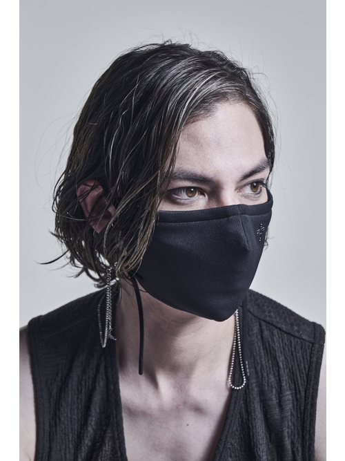 kiryuyrik・キリュウキリュウ/Heavy Mesh Cross SWR Face Cover/Black