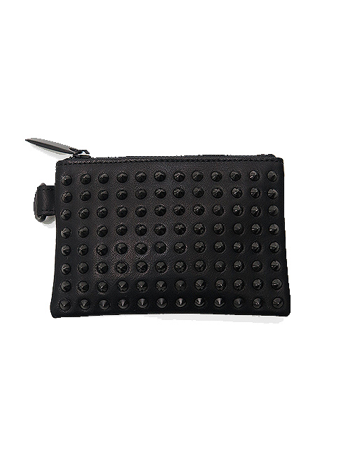 SALE30%OFF/PATRICK STEPHAN・パトリックステファン/COW HIDE Leather wide coin case all-studs・DAL.