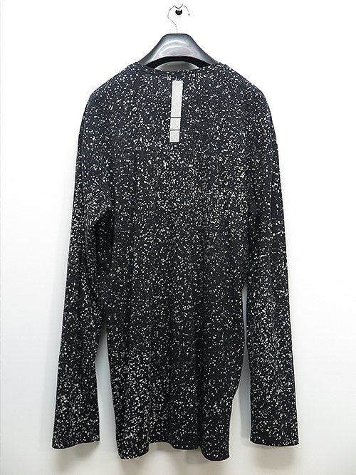 SALE40%OFF/KMRii・ケムリ/Cotton Discharged Cut/ LS/BLACK