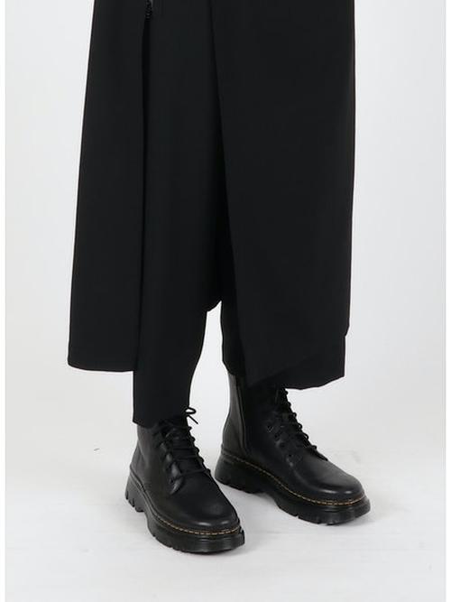 Yohji Yamamoto・ヨウジヤマモト/シワギャバ G-ラップパンツ/ブラック