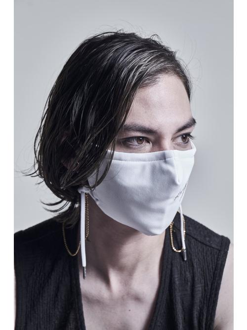 kiryuyrik・キリュウキリュウ/Heavy Mesh Embroidery Face Cover/White