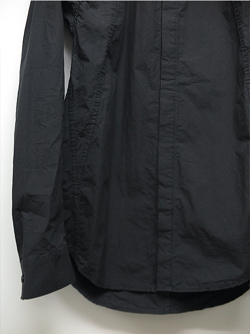D.HYGEN・ディーハイゲン・ライトタイプライターパッカリングシャツ・ブラック.