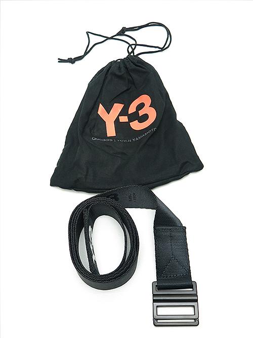 Y-3・ワイスリー/Y3-A20-0000-105/Y-3 LOGO BELT/BLACK.
