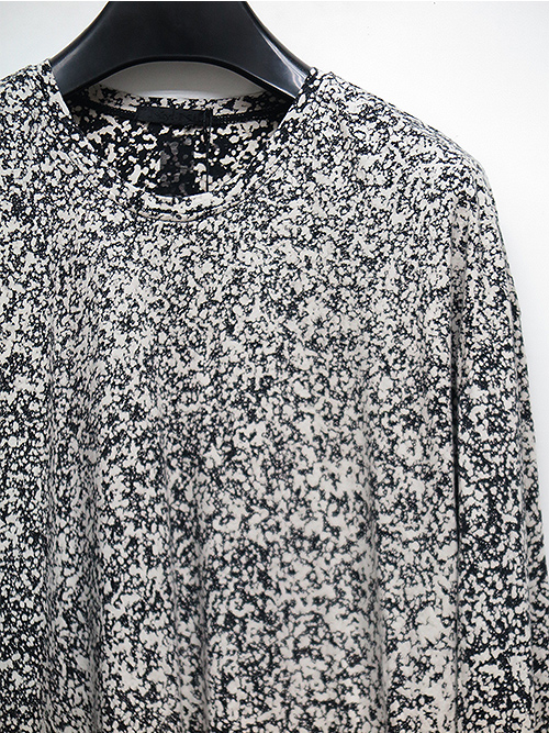 SALE40%OFF/KMRii・ケムリ/Cotton Discharged Cut/ LS/WHITE