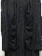 nude:masahiko maruyama ・ヌード:マサヒコマルヤマ/Cupro/Cotton/Linen Kersey Oversized Long Shirt/BLK