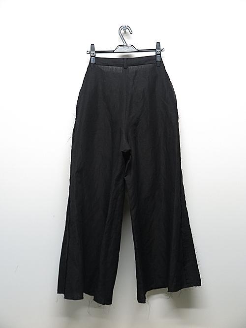 kujaku・クジャク /linen cotton  asatsuki pants/BLK