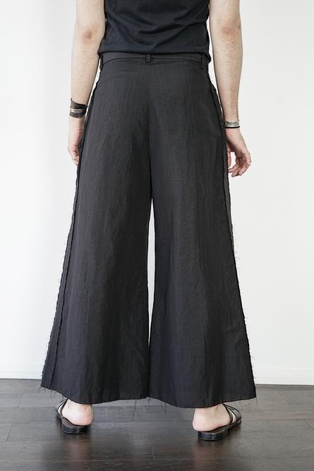 (予約品)1〜3月入荷予定/kujaku・クジャク / asatsuki pants/BLK