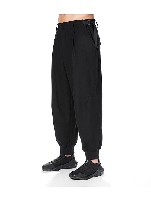 Y-3・ワイスリー/M CLASSIC WOOL FLANNEL CUFF PANTS/BLACK
