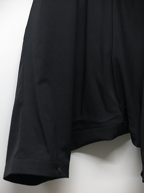 Yohji Yamamoto・ヨウジヤマモト/シワギャバ O-サルエルギャバパンツ/ブラック